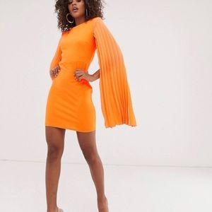 ASOS Orange mini dress sz 4 - WORN ONCE